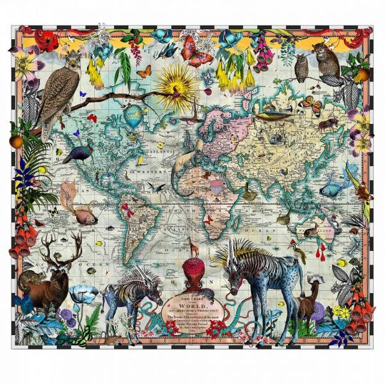 Kristjana S Williams | Eminent Navigators' World Chart Map | Artist | Art prints | Modern & Contemporary Art and Interiors
