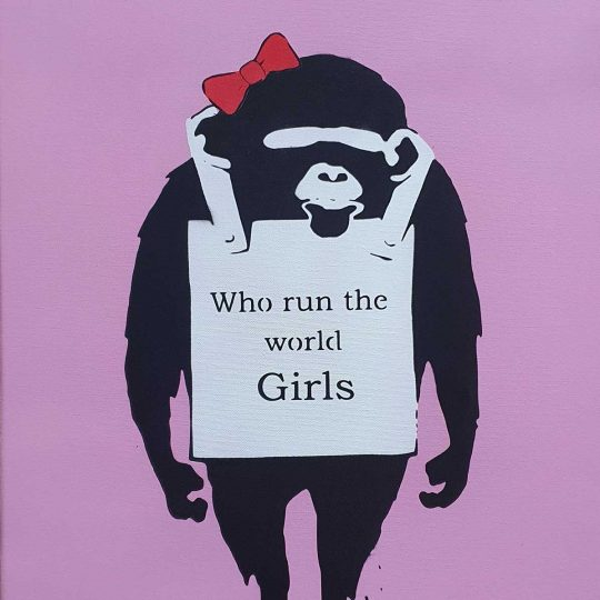 Mrs Banksy | Who Runs The World | Fine Art & Contemporary Prints | Books | Painting